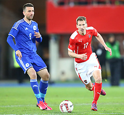 31.03.2015, Ernst Happel Stadion, Wien, AUT, Freundschaftsspiel, Oesterreich vs Bosnien Herzegowina, im Bild Vedad Ibisevic (BiH) und Florian Klein (AUT) // during the friendly match between Austria and Bosnia and Herzegovina at the Ernst Happel Stadion, Vienna, Austria on 2015/03/31. EXPA Pictures © 2015, PhotoCredit: EXPA/ Thomas Haumer