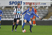 Seanan McKillop of AFC Wimbledon during the FA Youth Cup match between Newcastle United and AFC Wimbledon at St. James's Park, Newcastle, England on 6 January 2016. Photo by Stuart Butcher.