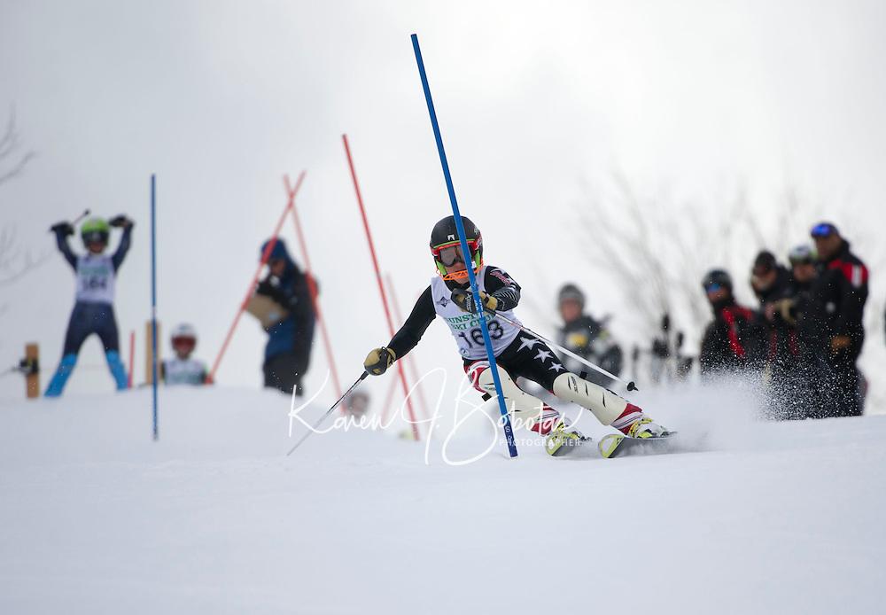 Piche Invitational Slalom U12 boys 1st run Sunday, March 17, 2013.  Karen Bobotas Photographer