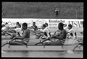 Munich, GERMANY   Heat of the M4-. 1998 FISA World Cup, Munich Olympic Rowing Course, 29-31 May 1998.  [Mandatory Credit, Peter Spurrier/Intersport-images] 1998 FISA World Cup, Munich, GERMANY