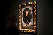 UNITED KINGDOM, London: 27 February 2018 A visitor takes a close look at Bartolomé Esteban Murillo's 'Self Portrait' (about 1650-55) at the new exhibition entitled 'Murillo: The Self Portraits' at The National Gallery in London this morning. <br /> The exhibition marks the 400th anniversary of one of the most celebrated Spanish artists. <br /> Rick Findler  / Story Picture Agency