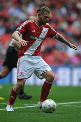 Adam Clayton Middlesbrough, Middlesbrough v Norwich, Sky Bet Championship, Play Off Final, Wembley Stadium, Monday  25th May 2015