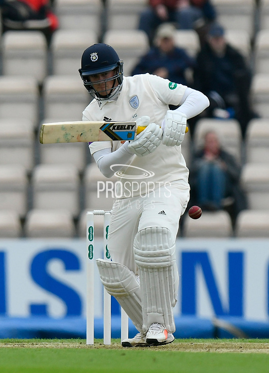 Sam Northeast of Hampshire batting during the Specsavers County Champ Div 1 match between Hampshire County Cricket Club and Worcestershire County Cricket Club at the Ageas Bowl, Southampton, United Kingdom on 13 April 2018. Picture by Graham Hunt.