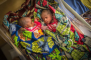 Newborn at Birthing Center at the King Fahed Ibn Abdul-Azezz Women and Children Hospital in Gusau, Nigeria. The women are mainly cared for by midwives, but the midwives are trained to stop problems and consult doctors assigned to the hospital.