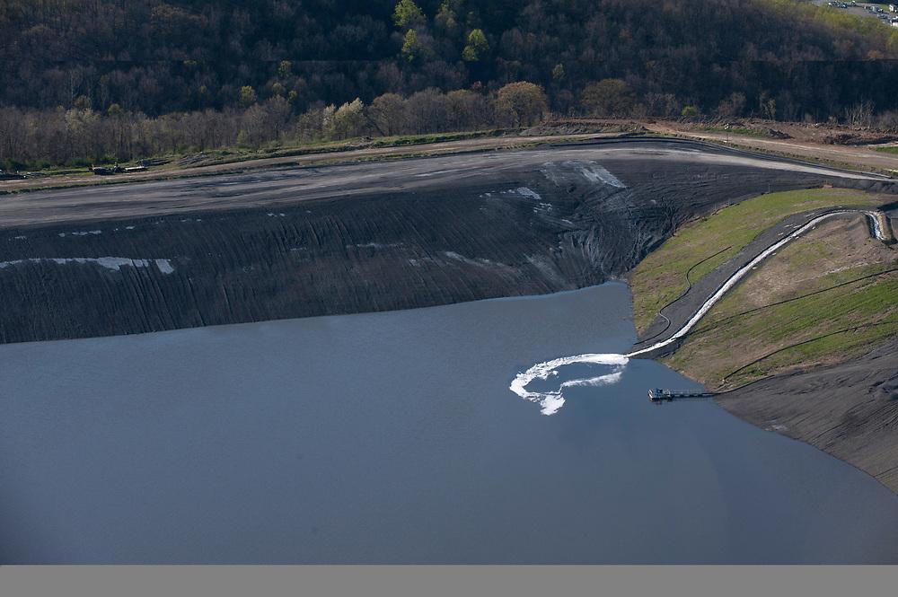 Coal mine and coal slurry near Waynesburg in Greene County.