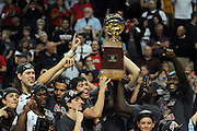 Gonzaga men take on St. Mary's and win the WCC tournament at The Orleans in Las Vegas. Photo by Rajah Bose.