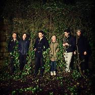 Scottish indie pop band Belle &amp; Sebastian is photographed for The Skinny on December 12, 2014 in Glasgow, Scotland<br /> Pictured L to R , Bobby Kildea,Richard Colburn, Stuart Murdoch,Sarah Martin,Stevie Jackson,Chris Geddes.