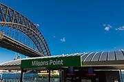 Views of Sydney Harbour Bridge from Kirribilli, Sydney, Australia.