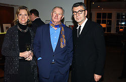 Left to right, SIR TERENCE & LADY CONRAN and artist JACK VETTRIANO at a party to celebrate a book of work by artist Jack Vettriano held at The Bluebird Club & Dining Room, 350 Kings Road, London on 7th December 2004.<br />