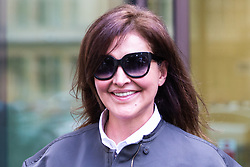 """Zamira Hajiyeva, the wife of a """"fat cat international banker"""" who spent £16 million in Harrods, faces extradition to Azerbaijan where she is wanted on charges of embezzlement, leaves Westminster Magistrates Court following a brief hearing surrounding her extradition. London, September 26 2019."""