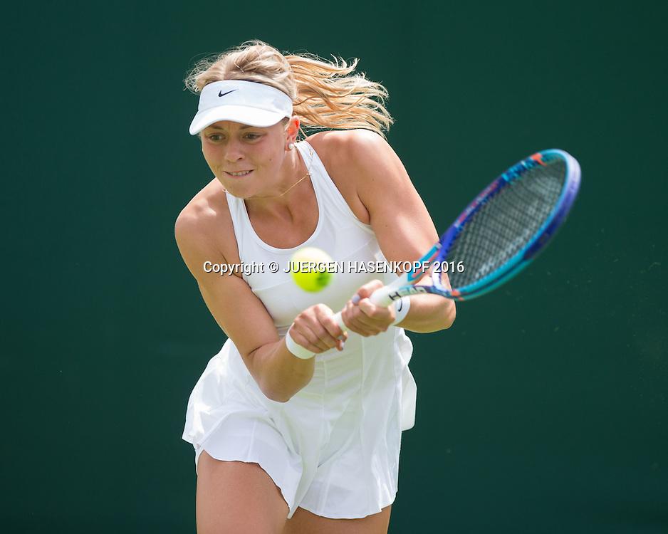 Carina Witthoeft (GER)<br /> <br /> Tennis - Wimbledon 2016 - Grand Slam ITF / ATP / WTA -  AELTC - London -  - Great Britain  - 27 June 2016.
