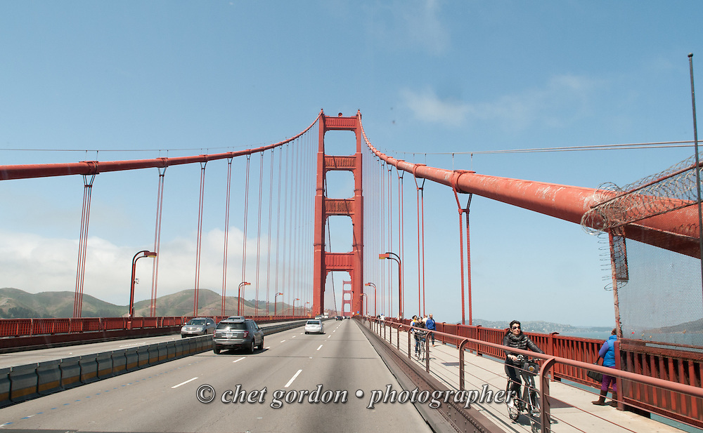 Crossing the Golden Gate Bridge in San Francisco, CA on Wednesday, April 22, 2015.