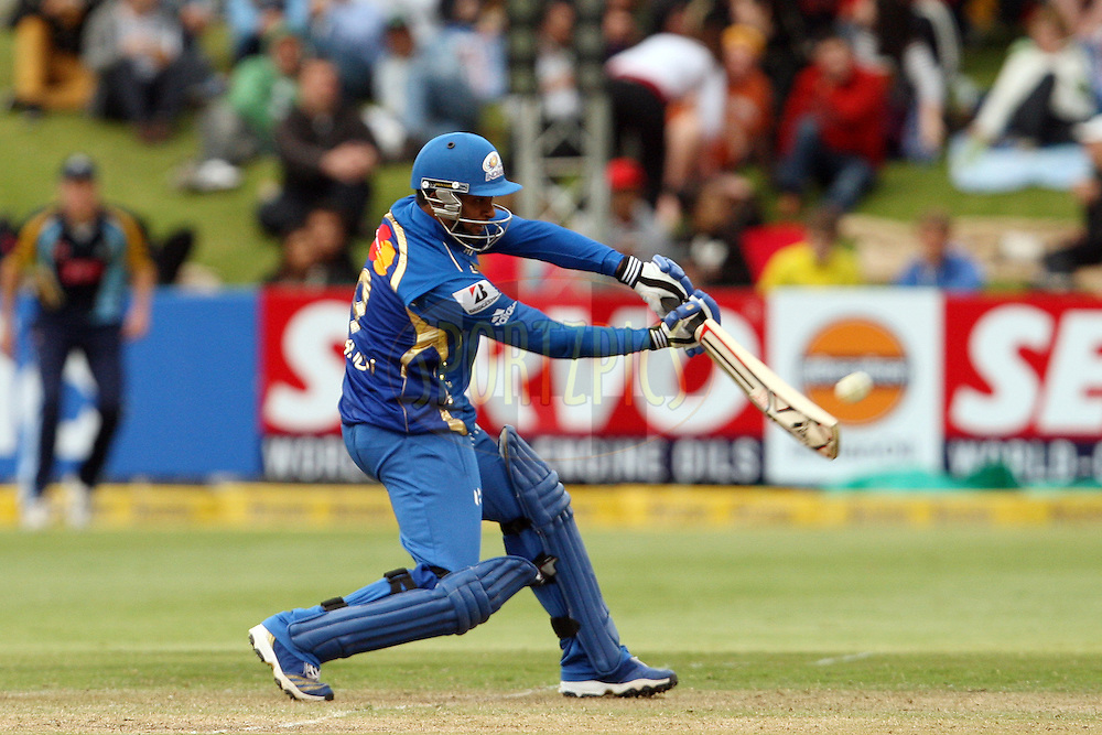 Ambati Rayudu during match 11 of the Karbonn Smart CLT20 South Africa between The Mumbai Indians and Yorkshire held at Newlands Stadium in Cape Town, South Africa on the 18th October 2012. Photo by Jacques Rossouw/SPORTZPICS/CLT20