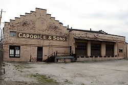 27 April 2013:   Buildings and structures in Bloomington Il - Capodice & Sons Produce building on S. Madison St.  ..