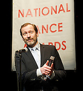 The 14th Critics' Circle National Dance Awards 2013 <br /> at The Place, London, Great Britain <br /> 27th January 2014 <br /> <br /> hosted by <br /> Bennet Gartside and Tommy Franzen <br /> <br /> winners include:<br /> <br /> Best modern choreography – Russell Maliphant for Fallen by BalletBoyz: The Talent<br /> <br /> Best classical choreography – Christopher Wheeldon for Aeternum by the Royal Ballet<br /> <br /> Outstanding female performance (in a single classical work) – Yuan Yuan Tan for RAkU/San Francisco Ballet<br /> <br /> Outstanding male performance (in a single classical work) – Nicolas Le Riche for Le Jeune Homme et la Mort/English National Ballet<br /> <br /> Outstanding female performance (in a single modern work) – Julie Cunningham for New Works 2012/Michael Clark Company<br /> <br /> Outstanding male performance (in a single modern work) – Paul White for The Oracle/Meryl Tankard<br /> <br /> Jane Attenborough Dance UK industry award – Amanda Chinn, general manager of Scottish Dance Theatre<br /> <br /> Best independent company – BalletBoyz: The Talent<br /> <br /> Outstanding company – Mikhailovsky Ballet<br /> <br /> Best male dancer – Dane Hurst/Rambert Dance Company<br /> <br /> Best female dancer – Natalia Osipova/Mikhailovsky Ballet<br /> <br /> De Valois awards for outstanding achievement – Leanne Benjamin and Matthew Bourne<br /> <br /> Photograph by Elliott Franks <br /> contact:<br /> Tel: 07802 537 220 <br /> email: elliott@elliottfranks.com<br /> www.elliottfranks.com