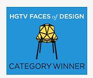 Winner!  HGTV Faces of Design 2016 People's Choice Award!