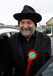 © Licensed to London News Pictures. 07/05/2015. Bradford, West Yorkshire. Respect Party MP George Galloway. Photo credit : Paul Thompson/LNP