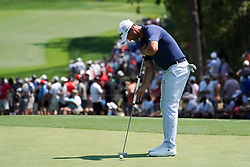 August 10, 2018 - St. Louis, Missouri, United States - Adam Scott putts the 9th green during the second round of the 100th PGA Championship at Bellerive Country Club. (Credit Image: © Debby Wong via ZUMA Wire)