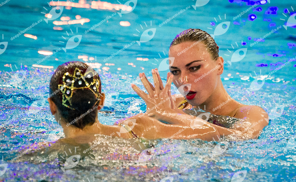Final Duet Free<br /> UKR UKRAINE<br /> ANANASOVA Lolita<br /> VOLOSHYNA Anna<br /> European Champions Cup Synchronised Swimming Haarlemmermeer 2015<br /> Haarlemmermeer, Netherlands 2015  May 8 th - 10 th<br /> Day03 - May 10th<br /> Photo P. F. Mesiano/Deepbluemedia/Inside