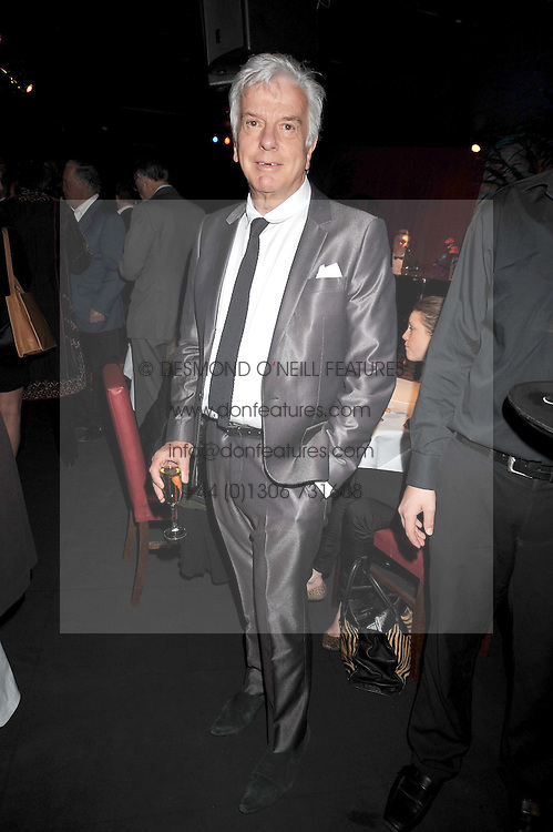 """NICKY HASLAM at a party to promote the """"American Songbook in London"""" aseries of intimate concerts featuring 1959 Broadway songs, held at Pizza on The Park, Hyde Park Corner, London on 18th March 2009."""