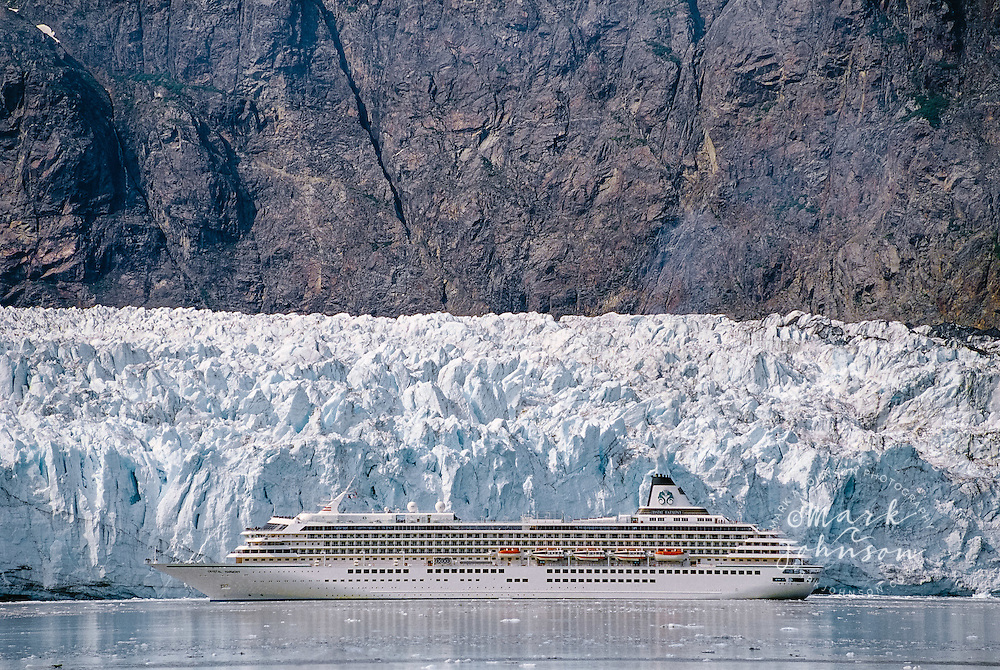 Glacier Bay National Park and Preserve, Alaska, USA --- Cruise Ship near Margerie Glacier