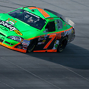 Danica Patrick #7 running smoothly near turn # 2 at The Nationwide Series race at Dover International Speedway in Dover Delaware. Kyle Busch wins the Nationwide Series final.