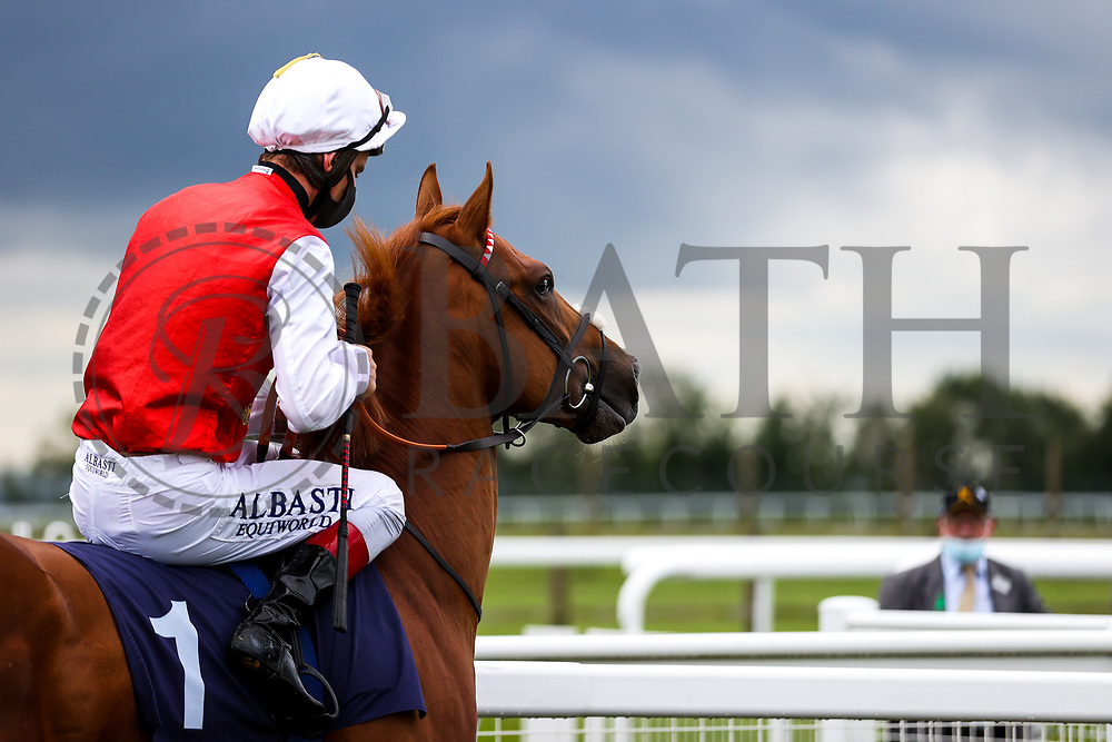 Bright Armor ridden by Adam Kirby (T: Clive Cox) wins the 12:30 attheraces.com Maiden Auction Stakes - Rogan/JMP - 14/07/2020 - HORSE RACING - Bath Racecourse - Bath, England.