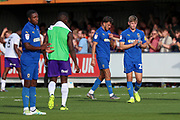 AFC Wimbledon midfielder Max Sanders (23) clapping after final whistle during the EFL Sky Bet League 1 match between AFC Wimbledon and Shrewsbury Town at the Cherry Red Records Stadium, Kingston, England on 14 September 2019.