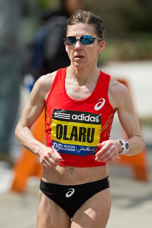 2013 Boston Marathon: Nita Olaru, 42, CO, races