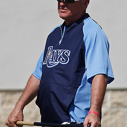 February 18, 2011; Port Charlotte, FL, USA; Tampa Bay Rays manager Joe Maddon following a spring training practice at Charlotte Sports Park.  Mandatory Credit: Derick E. Hingle