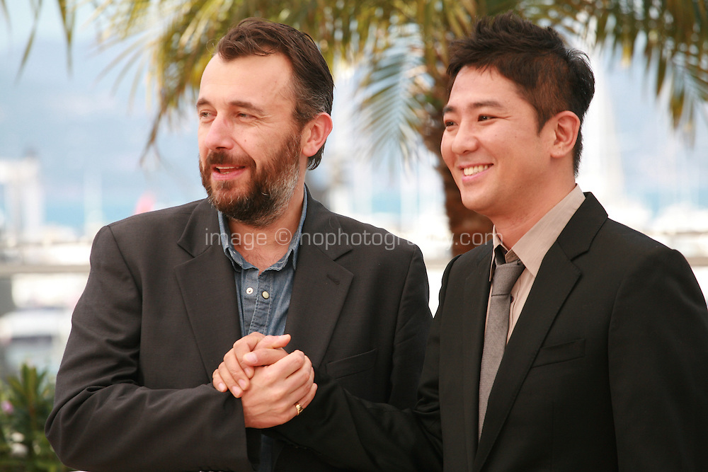 Directors Fred Cavayé and Chang at the photo call for the film The Target at the 67th Cannes Film Festival, Friday 23rd May 2014, Cannes, France.