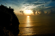 Sunset at Uluwatu Temple of Indonesia