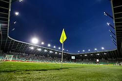 A flag and view of football field before football match between NK Olimpija Ljubljana and NK Maribor in 7th Round of Prva liga Telekom Slovenije 2017/18, on August 27, 2017 in SRC Stozice, Ljubljana, Slovenia. Photo by Matic Klansek Velej / Sportida