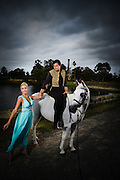 Prince Charming rescues his Damsel at Walka Waterworks for Maitland Tourism, 2010