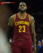 Nov 27, 2016; Philadelphia, PA, USA; Cleveland Cavaliers forward LeBron James (23) during a game against the Philadelphia 76ers at Wells Fargo Center. The Cleveland Cavaliers won 112-108. Mandatory Credit: Bill Streicher-USA TODAY Sports