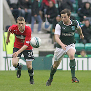 Lewis Stevenson and Jim McAlister  - Hibernian v Dundee - Clydesdale Bank Scottish Premier League at Easter Road.. - © David Young - www.davidyoungphoto.co.uk - email: davidyoungphoto@gmail.com