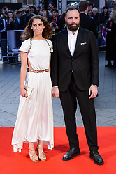 October 12, 2017 - London, London, UK - Ariane Labed and Yorgos Lanthimos attends the UK film premiere of Killing Of A Sacred Deer showing as part of the 51st BFI London Film Festival. (Credit Image: © Ray Tang via ZUMA Press)