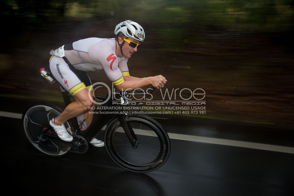 Matty White (AUS), June 8, 2014 - TRIATHLON : Ironman Cairns 70.3 / Cairns Airport Adventure Festival, Palm Cove - Captain Cook Highway - Cairns Esplanade, Cairns, Queensland, Australia. Credit: Lucas Wroe