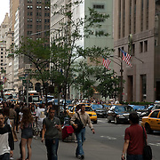 New York city street scene. NY, USA. Times Square at daytime. New York city.USA.