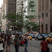 New York city street scene. NY, USA. Times Square at daytime. New York city.USA.
