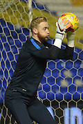 Blackburn Rovers goalkeeper Jason Steele during the Sky Bet Championship match between Birmingham City and Blackburn Rovers at St Andrews, Birmingham, England on 3 November 2015. Photo by Alan Franklin.