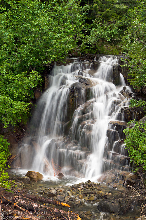 Picture Frame Falls - a seasonal waterfall at Stevens Canyon in Mount Rainier National Park.