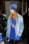Oct. 18, 2015 - New York City, NY, USA - Model Hailey Baldwin leaves Madison Square Garden after supporting the New York Rangers ice hockey team as they played the New Jersey Devils <br /> ©Exclusivepix Media