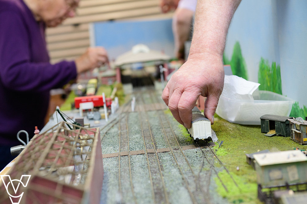 INSIGHT MAGAZINE: Bridlington Model Railway Society are based in Station Road, Bridlington, in a railway arch unit owned by Network Rail.  Pictured is part of Bridlington Model Railway Society's version of Filey station.<br /> <br /> Picture: Chris Vaughan Photography<br /> Date: May 31, 2017