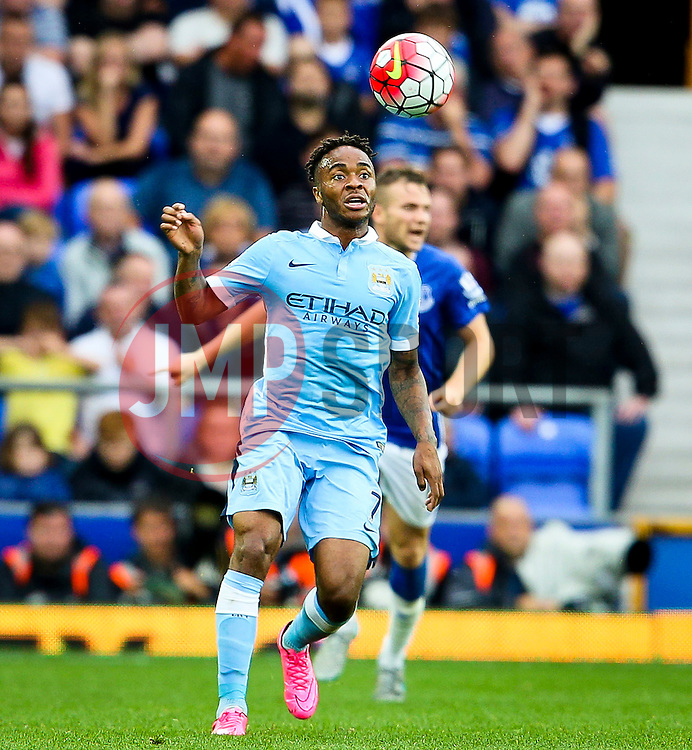 Raheem Sterling of Manchester City in action - Mandatory byline: Matt McNulty/JMP - 07966386802 - 23/08/2015 - FOOTBALL - Goodison Park -Everton,England - Everton v Manchester City - Barclays Premier League