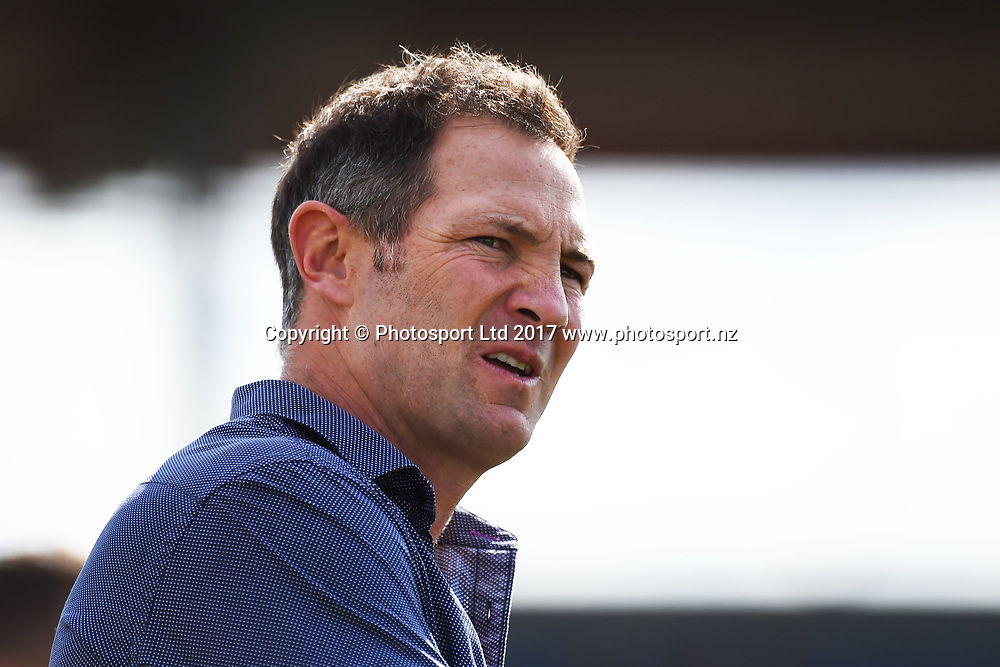 Tasman head coach Leon MacDonald during their Mitre 10 Cup Premiership Rugby game Tasman Makos v Southland Stags. Trafalgar Park, Nelson, New Zealand. Sunday 24 September 2017. ©Copyright Photo: Chris Symes / www.photosport.nz
