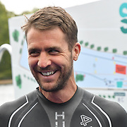 Leon Taylor Swim Serpentine 2018, London, UK. 22 September 2018.