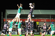 Edinburgh's lineout was disciplined during the Guinness Pro 14 2017_18 match between Edinburgh Rugby and Benetton Treviso at Myreside Stadium, Edinburgh, Scotland on 15 September 2017. Photo by Kevin Murray.