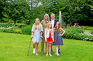 8-7-2016 - WASSENAAR - Queen Maxima and King Willem-Alexander and Princess Amalia and Princess Alexia and Princess Ariane with their dogs Skipper and pose for the annual photosession 2016 at their house De Horsten in Wassenaar near the hague . COPYRIGHT ROBIN UTRECHT <br /> 8/07/2016 - WASSENAAR - Koningin Maxima en Koning Willem-Alexander en Prinses Amalia en Prinses Alexia en Prinses Ariane en honden skipper en poseren voor de jaarlijkse fotosessie 2016 op het landgoed de horsten bij hun woning  in Wassenaar bij Den Haag. COPYRIGHT ROBIN UTRECHT Wassenaar, 8 juli 2016 : Koning Willem-Alexander en Koningin M&aacute;xima met hun dochters de Prinsessen Catharina-Amalia, Alexia en Ariane en de honden Skipper en Nala hond