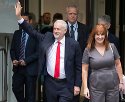 © Licensed to London News Pictures. FILE PICTURE: 09/06/2017. London, UK. Labour Party leader Jeremy Corbyn leaves party headquarters with Executive Director of the Leader's Office Karie Murphy the day after the general election. A BBC Panorama documentary, focusing on alleged anti semitism in the Labour Party is due to run this evening.  Photo credit: Peter Macdiarmid/LNP